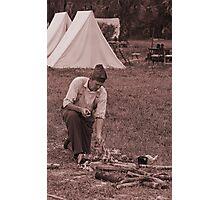 Campfire sepia Photographic Print