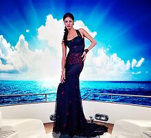 High Fashion Yacht Fine Art Print by stockfineart