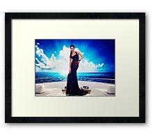 High Fashion Yacht Fine Art Print Framed Print