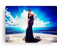 High Fashion Yacht Fine Art Print Canvas Print