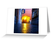 Reggio-Emilia. A Street View at Night. Italy 2009 Greeting Card