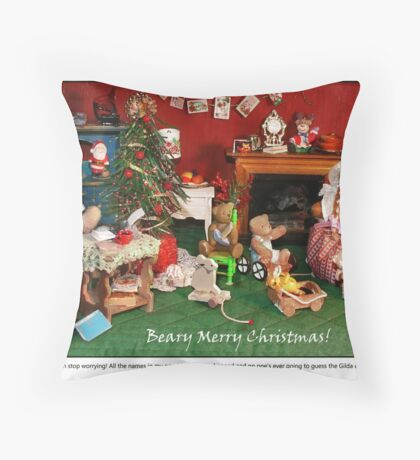 Hilda's Holiday Surprise Throw Pillow