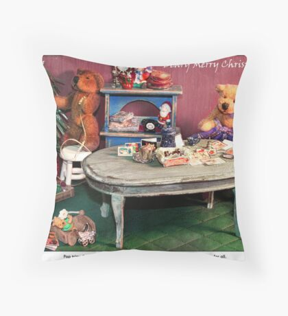 Almost Christmas in the Burrow Throw Pillow