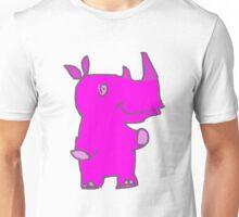 Pinker Happy Rhino Unisex T-Shirt