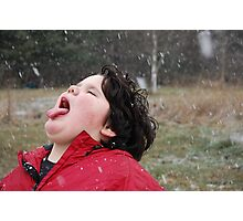 Taste Of First Fallen Snow Photographic Print