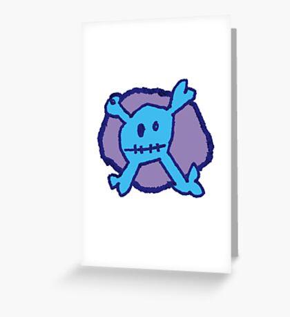 Graffiti Crossbones Greeting Card