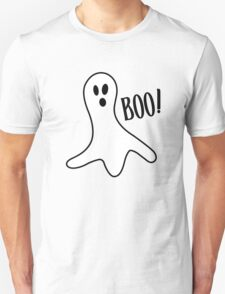 Halloween ghost boo cute costume trick or geek funny nerd T-Shirt