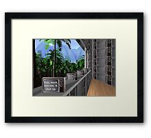 The green window  Framed Print