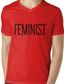 FEMINIST Mens V-Neck T-Shirt