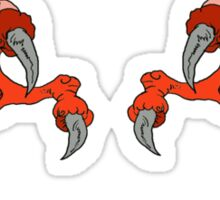 Red Dragon Claws Sticker