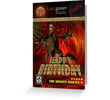 22nd Birthday Card Game Box Spoof For The Computer Game Fan Greeting Card