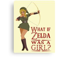 What if Zelda was a girl? (it's a joke) Canvas Print