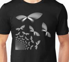 Silver Geometric Butterflies Unisex T-Shirt