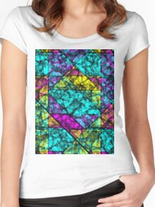 Abstract Colorful Background Women's Fitted Scoop T-Shirt