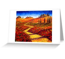 Tuscany Cypress Shadows Greeting Card