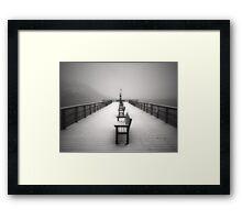 The Winter Pier Framed Print