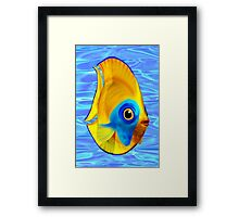 Tropical Fish on Clear Ocean Water 3D Framed Print