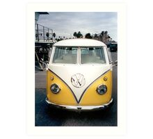 VW Bus Split window Art Print