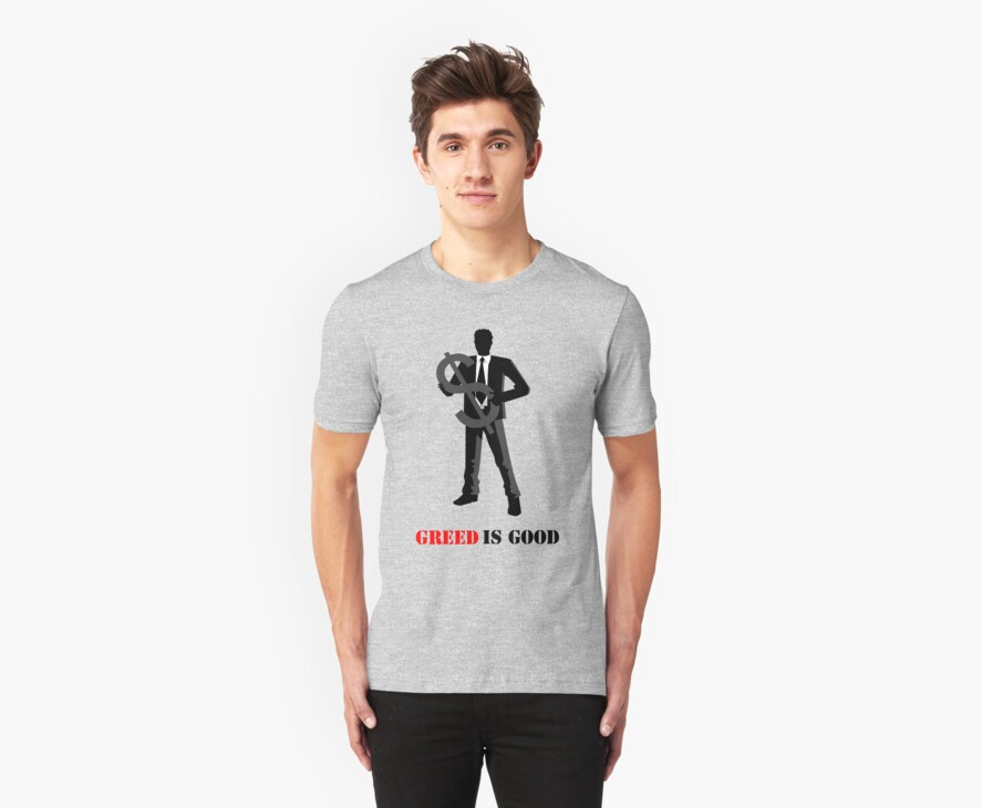 Business - Greed is Good by Vintage Retro T-Shirts