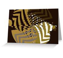Mathematical ripples Greeting Card