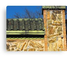 Roof and Stonework Patterns Canvas Print