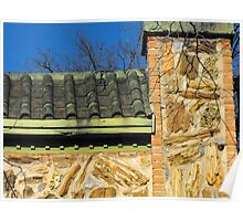 Roof and Stonework Patterns Poster