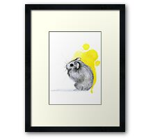 Hamster Watercolour Framed Print