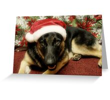 Santa Indy Greeting Card