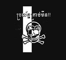 Cambodian Landmine Warning - White Unisex T-Shirt