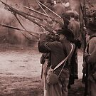Firing line sepia by Larry  Grayam