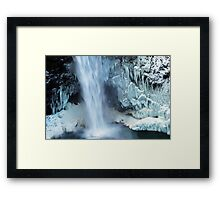 Frozen Winter Falls Framed Print