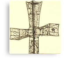 wire cross Canvas Print