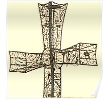 wire cross Poster