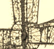 wire cross Sticker