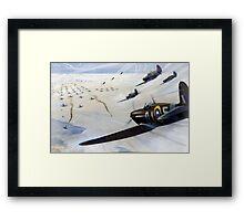 WW2 Vintage Propaganda Poster Art - Spitfire Intercept Framed Print