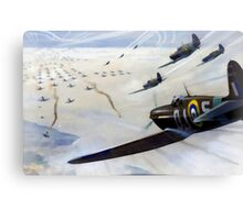 WW2 Vintage Propaganda Poster Art - Spitfire Intercept Canvas Print