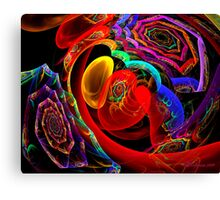 Lots of Spiral and a Heart Canvas Print