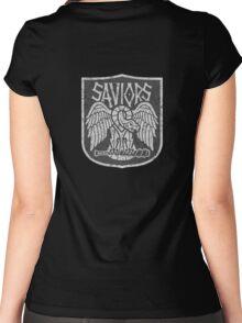 TRhe Walking Dead Factions:  Saviors Women's Fitted Scoop T-Shirt