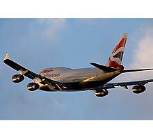 British Airways 747 Departure Photographic Print