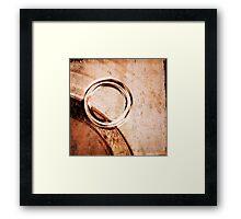 Ancient ring Framed Print
