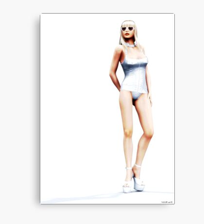 ..A study in white.. Canvas Print
