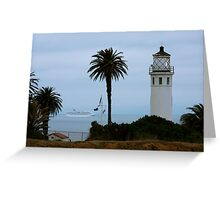Point Vicente Light Greeting Card