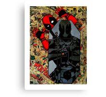 Deadpool - Target Practice! - Comic Book Collage Canvas Print