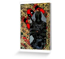 Deadpool - Target Practice! - Comic Book Collage Greeting Card