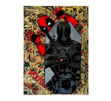 Deadpool - Target Practice! - Comic Book Collage Photographic Print
