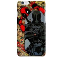 Deadpool - Target Practice! - Comic Book Collage iPhone Case/Skin