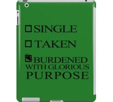 Single Taken..LOKI iPad Case/Skin