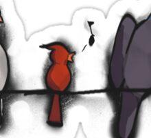 3 Birds on a Wire Sticker