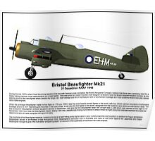 Bristol Beaufighter MK21 Profile Poster