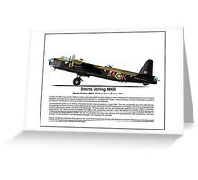 Short Stirling MKIII Profile Greeting Card